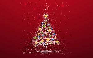 rode-kerst-wallpaper-met-kerstboom